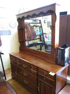 Large Dresser with Mirror For Sale At Nearly New Port Hope