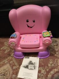 Fisher Price Laugh and learn chair pink