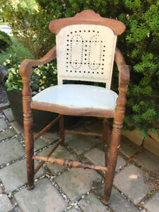 UNIQUE ANTIQUE SOLID MAHOGONY WOOD CHAIR