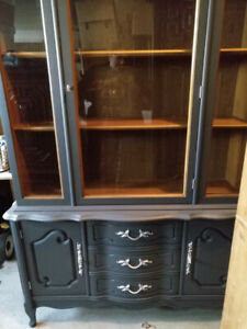 Gorgeous Bassett China Cabinet Refinished Perfection