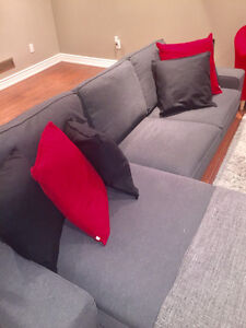 Sectional Couch, Accent Chairs, Coffe Table, Area Rug, TV Stand