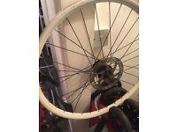 Front wheele for a mountain. Bike white