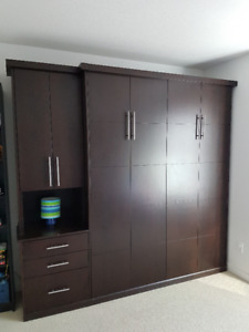 Murphy Bed, Wall Bed QUEEN SIZE Deluxe Easi-Li  Mechanism Wood