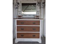 Edwardian refurbished dresser and mirror shabby chic