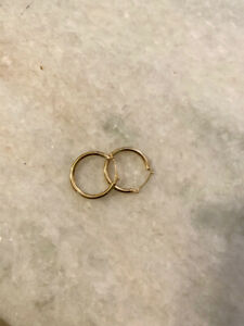 GOLD HOOP EARRINGS 14 KT