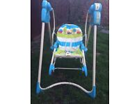 Fisher price swing and rocking seat combination