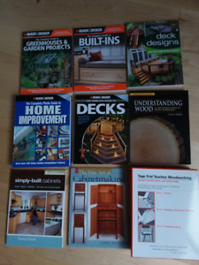 Woodworking and Home Improvement Book Collection - Brand New