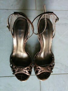 SPRING Shoes - Bronze High Heel Sandals - Size 7/7.5