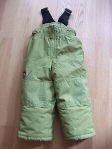 Girls CLEMENT brand Snowpants - Size 2, Green
