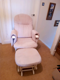 Tutti Bambini Glider Rocking chair and footstool