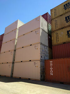 20' One-Trip Used Shipping  Containers Beige