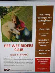 Pee wee riders ages 3-7 years