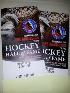 4 Hockey Hall of Fame Tickets for 1/2 price!!