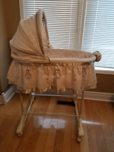 Bassinet with light, music and vibration