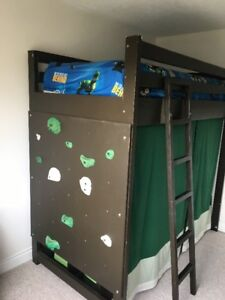 Kid's Loft Bed with Climbing Wall