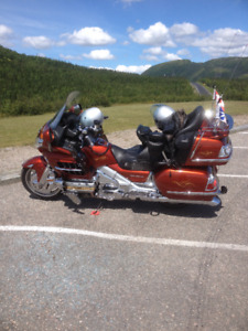 2007  Honda Goldwing GL 1800 and factory matching trailer.
