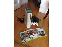Xbox 360 with 3 games