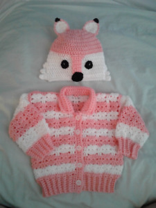 Crochet baby sweater sets  3 to 6 months