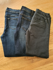 Boys skinny jeans and chinos 10-11