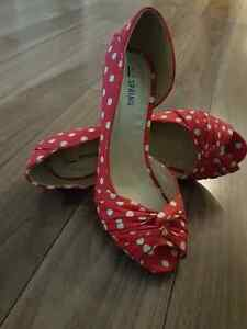 Spring polka dot heels for sale