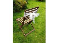 Silver organza chair sashes / bows x 99