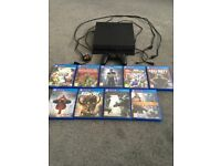 PS4 500gb bundle with controller, leads & 10 games.
