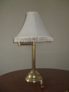 Tall table lamp with swing arm-perfect for reading