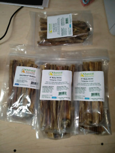 "Natural Raw Chef Bully Sticks 8"" - 69 count"