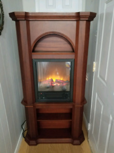 Corner or wall electric fire place