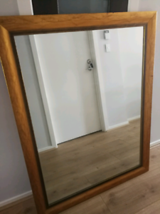 Gold framed large mirror