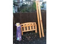 PINE TODDLER BED FRAME ** FREE DELIVERY AVAILABLE MONDAY NIGHT **