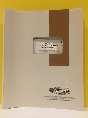 Kepco 243-1027r8d Model Bop 100-10mg Power Supply Operators Manual