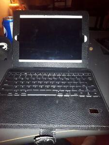 Samsung Galaxy Tab 4 (10.1-Inch 16GB, White) w/ case & keyboard