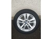 "16"" GENUINE MERCEDES BENZ ALLOY WHEELS AND TYRES £220"