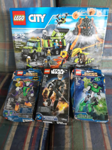 LEGO STAR WARS, CITY AND SUPER HEROES SETS