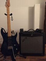 Guitare + Amplificateur + pédal Metal-zone