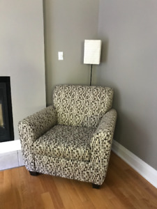 Set of 2 Fabric Accent Chairs