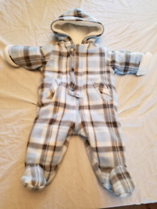 Boy 3 month cold weather suit/bunting