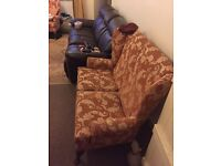 2 seater wing back sofa