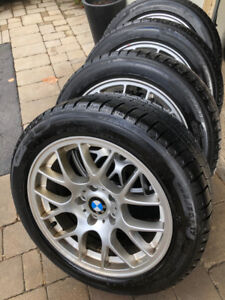 4 BMW 328i X-drive Winter tire package 225 50 17 Michelins