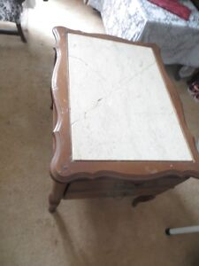 end tables marble tops