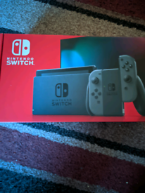 Brand new grey nintendo switch