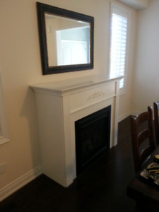Natural Gas Fireplace with Mantle and Surround. Mint Condition!