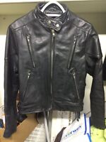 Women's small leather motorcycle jacket. Make an offer!
