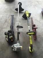 Lawn equipment for sale: weed wacker, trimmer, blower, hedge