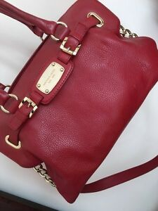 Michael Kors purse in red leather