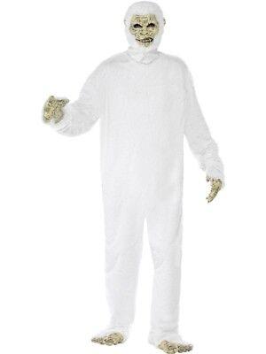 Yetikostüm deluxe Yeti Monster Bigfoot Kostüm 6-teilig weiss Halloween Gr - Yeti Kostüm Halloween