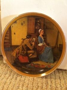 """Collector Plate """"Portrait for a Bridegroom""""Norman Rockwell """""""