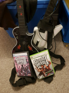 Guitar hero games and guitars for xbox360