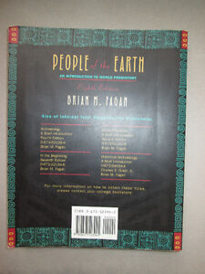 BOOK People of the Earth World Prehistory by Brian M Fagan West Island Greater Montréal image 2